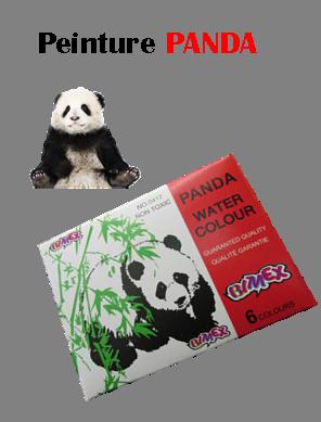 peinture scolaire panda